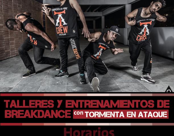 Taller y Entrenamiento Breakdance. Afiche
